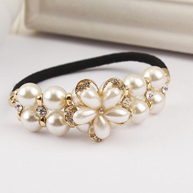 Headband with Pearls/Flower